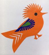 OrangeBirdPolishFolkArt